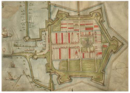 Kaart Willemstad 1586