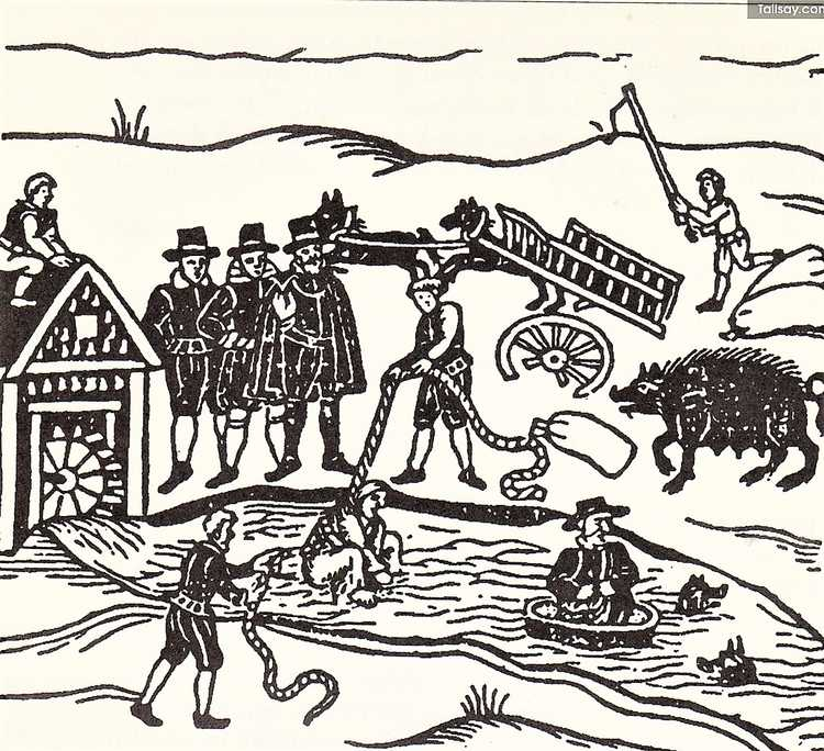 De waterproef van Mary Sutton in het Engelse Bedfordshire (Bron: Witches apprehended, 1613)