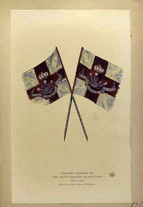 Colours carried by the Scots brigade in Holland prior to 1782. Now in St. Giles's Church, Edinburgh. 1780. NYPL Digital Galery